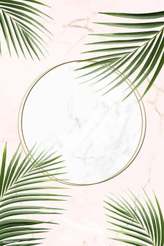 Round golden frame on a tropical background vector Illustration , Cool Backgrounds, Wallpaper Backgrounds, Iphone Wallpaper, Wallpaper Ideas, Tropical Background, Flower Frame, Cute Wallpapers, Aesthetic Wallpapers, Royalty Free Images