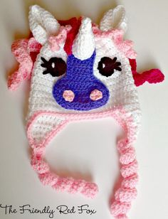 The Friendly Red Fox: Free Crochet Little Pony Hat
