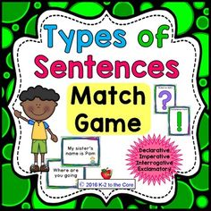 Types of Sentences: MATCH GAME