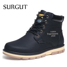 Basic Boots Glorious Urbanfind Men Boots Male Rubber Combat Ankle Work Safety Shoes Size 40-46 Autumn Winter Snow Boots Men Sneakers