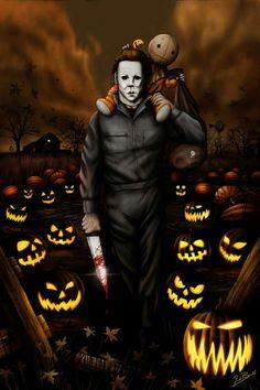Hollywood Horror Toddler T-shirts Halloween Michael Myers /& Trick R Treat Sam