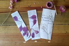 Pressed Flower and Vintage Book Page Bookmarks