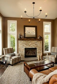BROWN LIVING ROOM IDEAS – Let's make this year as the year of simplicity. We can start realizing the goal by working on brown living room ideas. Brown has earned a reputation as . Read Gorgeous Brown Living Room Ideas 2020 (For Your Inspiration) Brown Living Room Decor, Room Design, Living Room Paint, Brown Walls, Living Room Colors, Trendy Living Rooms, Brown Living Room, Home And Living, Living Room Designs