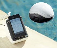 Listen to your music while lounging by the pool with this floating wireless speaker. Using a high powered 900 MHz signal, the floating wireless speaker. Gadgets And Gizmos, Cool Gadgets, Geek Gadgets, Phone Gadgets, Pool Toys For Adults, Dandy, Pottery Barn, Ipod Speakers, Water Speakers