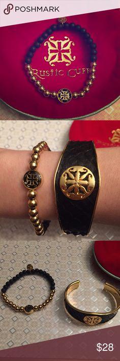 Rustic Cuff Mini Melanie Black and Gold Mini Melanie. New, never worn. Comes with bag. Rustic Cuff Jewelry Bracelets