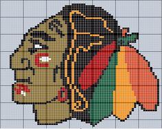 Blackhawks blanket....