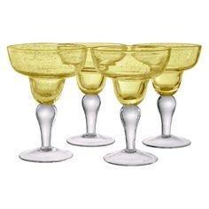 Artland Inc. Iris Citrine Margarita Glasses - Set of 4 - 50929B