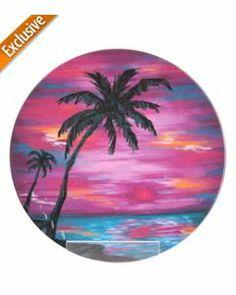Caribbean Joe Summer Nights Palm Dinner Plate