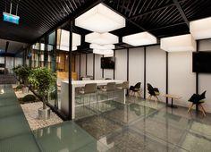 Bakırküre Architects designed the offices of glass manufacturer Şişecam, located in Istanbul, Turkey. Şişecam Headquarters's,is located at İş GYO Office Interior Design, Office Interiors, Interior Design Inspiration, Office Designs, Architecture Desk, Clinic Design, Workplace Design, Architect Design, Interior Lighting