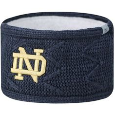Adult Top of the World Notre Dame Fighting Irish Ziggy Knit Headband ($14) ❤ liked on Polyvore featuring accessories, hair accessories, ovrfl oth, head wrap headband, hair band headband, headband hair accessories, knit headband and knit headwrap