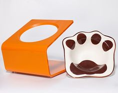Modern Raised Pet Feeders by Choco & Cherry