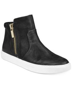 c2d381db207d Kenneth Cole New York Women s Kiera Sneakers  130.00 Suede and zippers add  textured interest to your