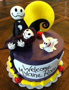 Superior Nightmare Before Christmas Baby Shower Cake