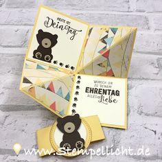 Faltkarte mit Bär aus der Fuchsstanze von Stampin Up