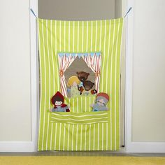 Doorway Puppet Theatre (For Callie) Wonder if I could make it.  LOVE the lime stripes.