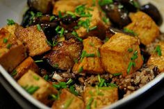 Wait, youre Vegan? So what do you eat? Panda  Express Clone-Tofu & Eggplant