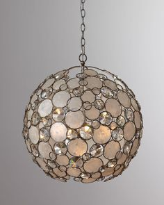 Antiqued Silver-Leaf Chandelier - Horchow ( Chandeliers Crystal White Iron Silver Pendants Embellishments Lighting)