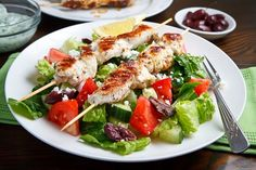 Chicken Souvlaki Salad ~ ~ another great recipe from closet cooking ~ ~ Thank you, Kevin!!