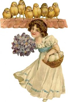 Glanzbilder - Victorian Die Cut - Victorian Scrap - Tube Victorienne - Glansbilleder - Plaatjes : Ostern mit Kindern - easter with child - Easter Greeting Cards, Vintage Greeting Cards, Vintage Ephemera, Collages, Spring Images, Easter Art, Easter Parade, Vintage Easter, Vintage Children