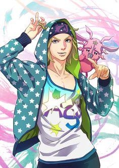 Johnny Joestar in a hoodie Bizarre Pictures, Jojo Memes, Realistic Paintings, Jojo Bizzare Adventure, Beautiful Drawings, Jojo Bizarre, Easy Drawings, Amazing Art, Manga Anime