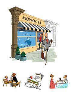 City Guide : Monocle Magazine  illustrated by Satoshi Hashimoto www.dutchuncle.co.uk/satoshi-hashimoto