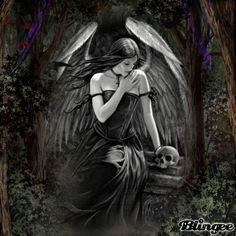 """blingee angels   Dieses """"black angel""""-Bild wurde mit der kostenlosen Online ..."""