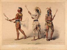 Native American George Catlin Ball Players, via Flickr.