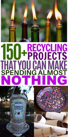 These upcycling crafts are a great way to celebrate Earth Day with your kids. From plastic bottle crafts to lightbulb DIYS to seed starters there are so many ways you can re-use common household items! Diy Crafts Hacks, Diy Arts And Crafts, Creative Crafts, Crafts To Make, Fun Crafts, Crafts For Kids, Diys, Adult Crafts, Nature Crafts