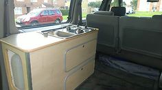 Black 1996 Mazda Bongo 2.5 TD Campervan with removable kitchen and awning