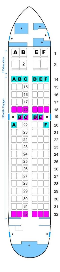 Seat Map Air Pacific Boeing B737 700 - Aircraft Seats