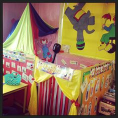 The circus role play area