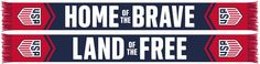 US SOCCER SCARF - Home of the Brave