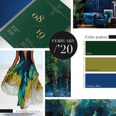 Pantone Colors: Eden, Guacamole, Galaxy Blue -- Follow Paper Couture Studio on Instagram and Facebook! @papercouturestudio --