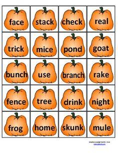 Short- Long Vowels Pumpkin Sort