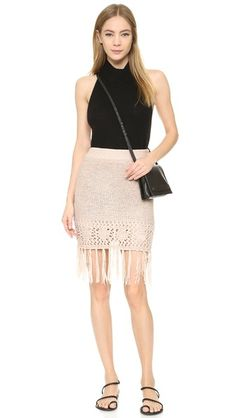 Moon River Fringe Skirt