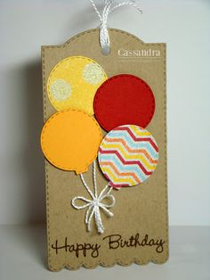 Find unique birthday party gifts and remarkable inspirations for wedding anniversary yields for all on your private present. Birthday Care Packages, Birthday Tags, Happy Birthday, Birthday Gifts For Husband, Handmade Gift Tags, Paper Tags, Card Tags, Homemade Cards, Creations