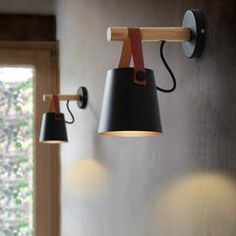 wooden led wall light with hanging lampshade - Life .- applique murale led en bois avec abat jour suspendu – Life ideas LED wooden wall light with hanging lampshade – - Sconce Lighting, Wooden Wall Lights, Wooden Walls, Wall Sconces Living Room, Wood Wall Lamps, Wall Lights, Wooden Lanterns, Bedside Lighting, Modern Wall Lamp