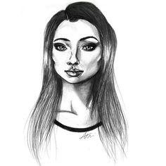 Drawing of Bonny Bennett in Vampire Diaries