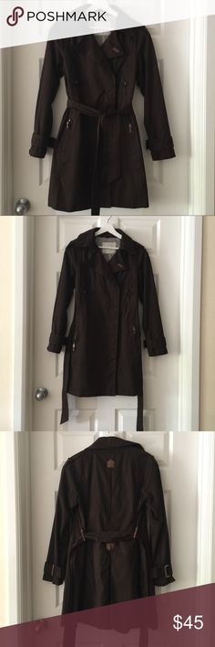 Zara Basic Trench Coat Zara Basic Trench Coat. Long dark brown trench/raincoat with lovely suede trim. Fully lined. In good used condition, with some minor signs of wear. Zara Jackets & Coats Trench Coats