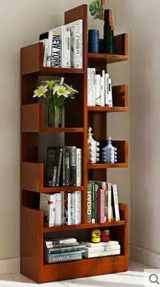 Creative Bookshelves, Bookshelves In Bedroom, Decorating Bookshelves, Bookshelf Design, Bookcase Storage, Home Room Design, Home Interior Design, Minimal Bedroom Design, Wardrobe Door Designs