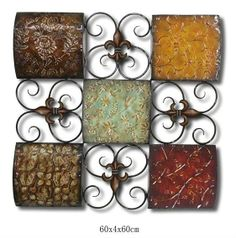 Vintage Metal Wall Art http://metromodern.biz/copper-metal-wall-art.html | products i