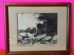 Vintage Black And White Hawaiian Framed Photo By Scott Burton Collectible Gift