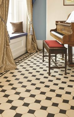 Shown here is the Chesterfield pattern in classic Black & White, looking effortlessly sophisticated. New colours, patterns and shapes means our geometric Victorian style floor tiles look great in traditional and contemporary homes.Available form TileStyle.