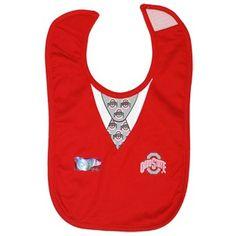 Ohio State University Infant Tressel Sweater Vest Baby Bib