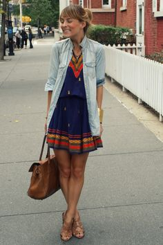 cute dress and simple top!