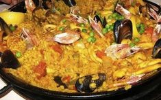 Ricetta Paella valenciana con pesce e carne #paella #paellavalenciana #ricettapalla