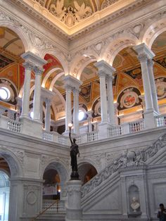Library of Congress. Extraordinarily beautiful building. Pix don't do it justice.