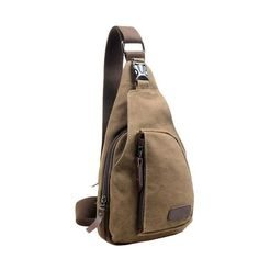 Waist Packs For Mens Casual Canvas Unbalance Crossbody Shoulder Bag Solid Chest Bag mochila feminina #YHSL