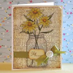 nice. I LOVE THIS CARD.  I'm gonna make one tomorrow with Daisies.  My bf carol loves daisies!