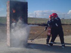 Fuego en foco vertical